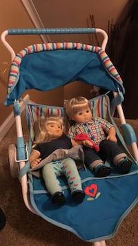 American girl twins with stroller Charlotte, 28215