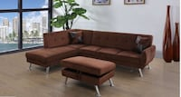 No credit needed 100 days no interest chocolate microfiber sectional w College Park