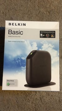 black Belkin Basic Wireless Router box West Allis, 53214