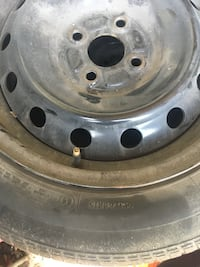 chrome bullet-hole car wheel with tire Barrie, L4N 7N7