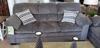 gray fabric 3-seat sofa HAGERSTOWN