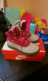pair of pink and gray Nike boots Beech Island, 29842