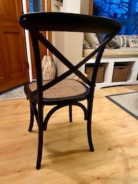 Ethan Allen Miller Dining Table & 4 New Arhaus Black Cadence chairs