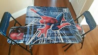 Spiderman table and 2 chairs foldable Woodbridge Township, 08830