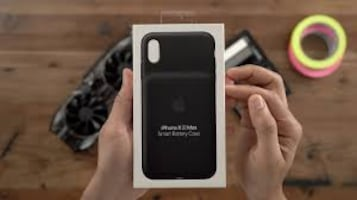 IPHONE XS MAX BATTERY CASE BLACK NEW