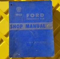 1952 FORD Passenger Car Original Factory Shop Repa Shelton