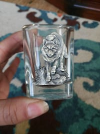 clear wolf-etched shot glass Rochester, 14606