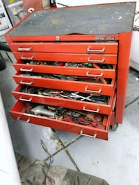 red and black tool chest Denver, 80219
