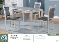 affordable price for dining table silver color with 4 chair available take tome today Providence