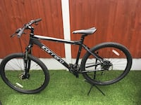 black and white Salcano hardtail mountain bike Manchester, M9 8AT