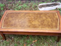 brown wooden frame glass top coffee table Murrells Inlet, 29576