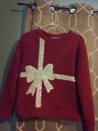 red and white star print sweater 2347 mi