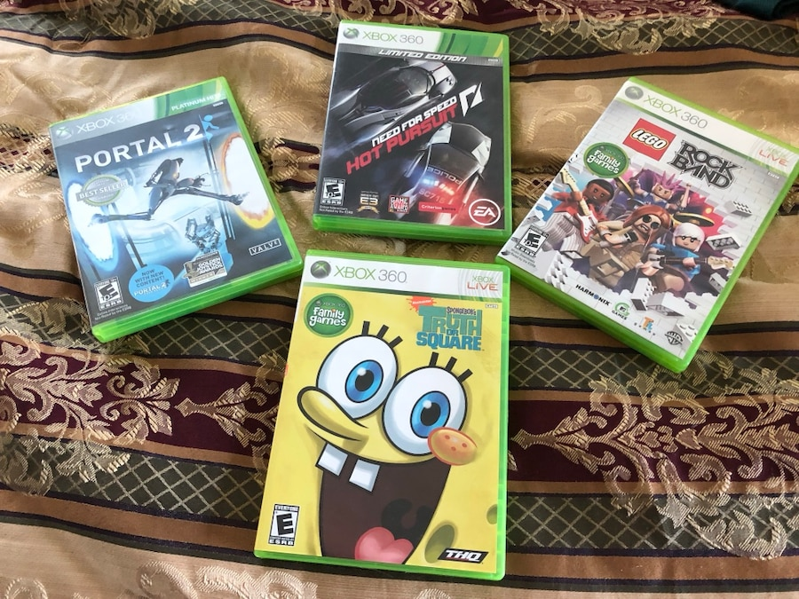 Used, assorted Xbox 360 game cases for sale  Tarpon Springs
