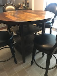 Brand New Pub Table with 4 Swivel Chairs