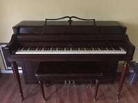 brown wooden upright piano with chair Rancho Cucamonga, 91730