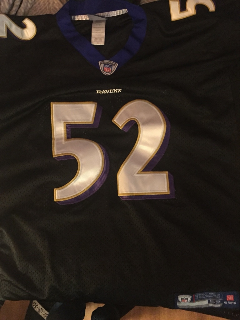 f8085243a ... official used baltimore ravens retired ray lewis jersey for sale in  vancouver 35525 bbe68