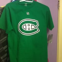 Montreal Canadiens green t shirt - Reebok size small (NEW)