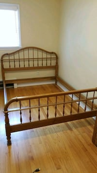 brown wooden bed frame with mattress Colonie, 12205
