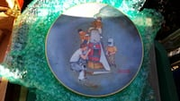 four males painting wooden barrel ceramic decorative plate Annandale, 22003