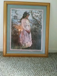woman in pink dress painting with antique gold fra Oldsmar, 34677