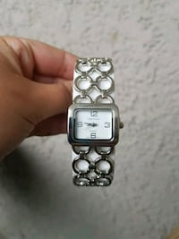square silver analog watch with silver link bracelet Milton, L9T 1S8