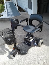black mobility scooter