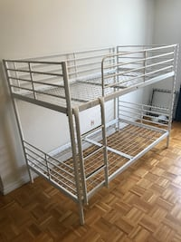 White Bunk Bed with 2 mattress Toronto