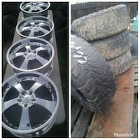 22 inch rims and 37 1350 22s Toyo set