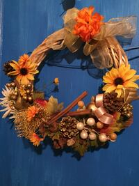orange and brown floral wreath Corpus Christi, 78408