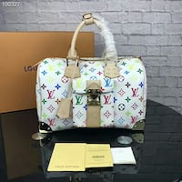 white, pink, and green floral tote bag London, E12 5LP