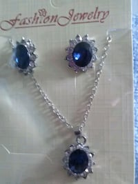 silver-colored necklace with blue gemstone pendant Asheville, 28803