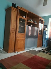 brown wooden cabinet with mirror Falls Church, 22042