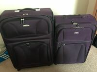 two purple-and-black softside luggages Columbus, 43213