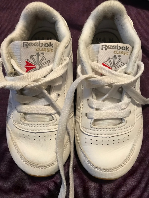 Used Infant Reebok toddler size 6 boy girl classic leather shoes for ... e8ee2b610