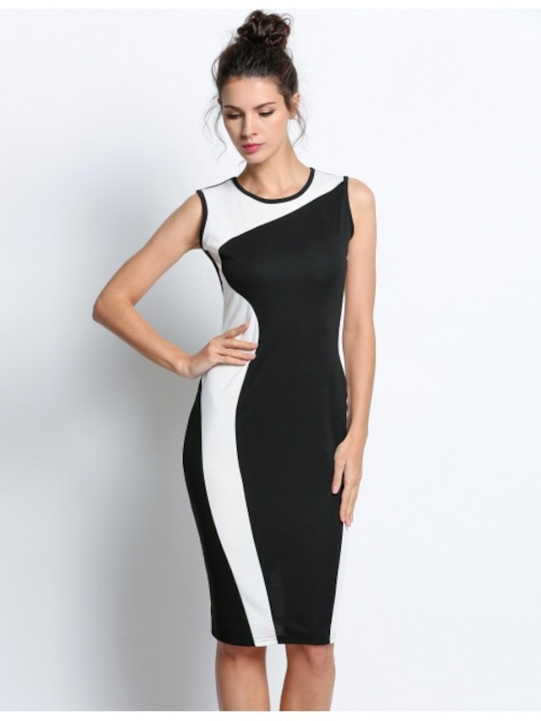 Used women s black and white sleeveless midi dress for sale in ... 55ef1c81e7