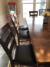 black wooden dining table with chairs Chantilly, 20151