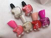 six assorted color nail polish bottles Reston, 20190