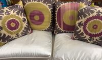 4 Throw Pillows purple/green good Have to see!!!