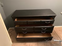 Black painted dresser. Good for a project. Missing one handle. The others are in the drawers   Fairfax Station, 22039