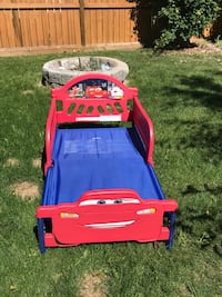 Red and yellow little tikes plastic bed frame Calgary, T3B 2G5