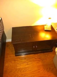 black wooden 2-drawer nightstand Burnaby, V5C