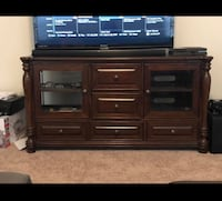 Brown wooden tv stand Manor, 78653