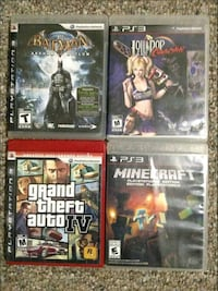 four assorted PS3 game cases Duffield, T0E 0N0