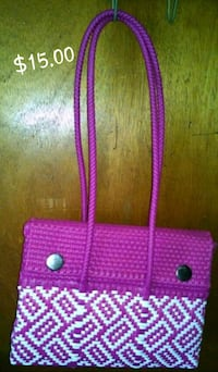purple and pink knitted handbag Des Plaines