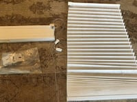 "Two Entry Door Sidelight Pleated Shades (12"" x 74"") Vancouver, 98685"