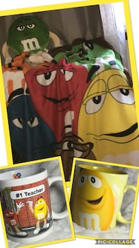 M&M  bed cover and your choice of one cup or plush caractèr Montréal, H1R 2K3