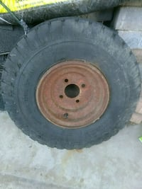 brown bullet hole vehicle wheel with tire Barrie, L4M 6N4