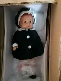 black haired female doll with box Edmonton, T5M 0L1