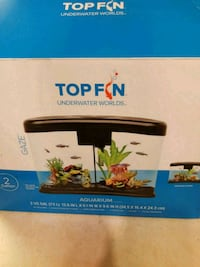Topfin 2 gallon curved aquarium 38 km