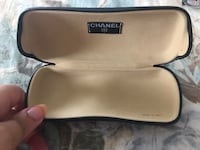 Authentic Chanel glasses case black made in Italy